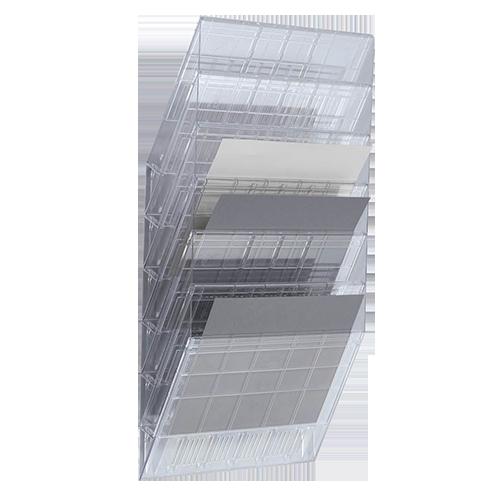 Blankettfack Flexiboxx 6 fack transparent