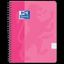 Anteckningsbok Oxford Touch A5 rutat rosa