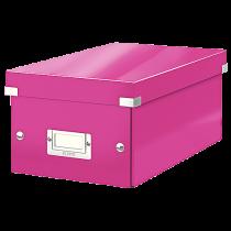 Förvaringslåda Click & Store DVD rosa