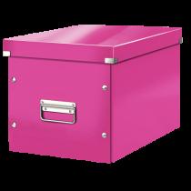 Förvaringslåda Click & Store Large rosa